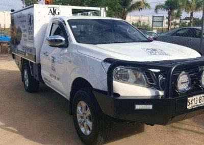 Our new fully-equipped truck all set for onsite jobs