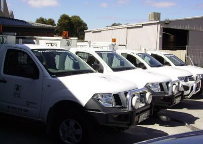 Fully equipped fleet of work UTEs for all on-site jobs anywhere in Adelaide